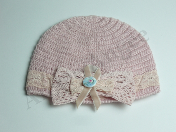 Pink Beanie with Bow