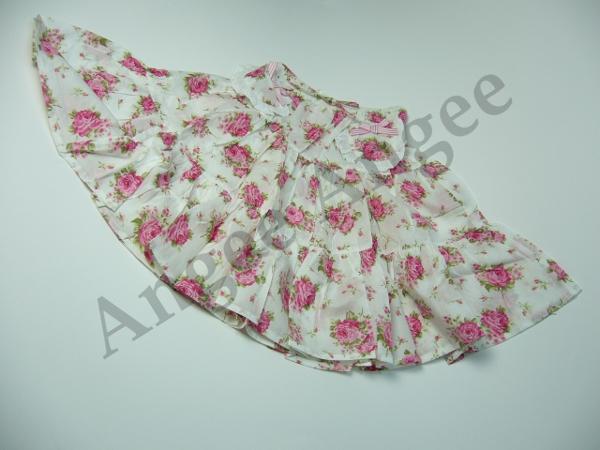 【Tea Princess】ローズ柄スカート(Floral gypsy skirt)