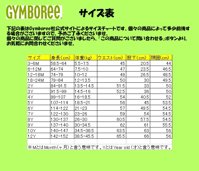 gymboree-size-chart Images - Frompo - 1
